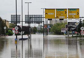 Ljubljana Vič-poplava Sept2010
